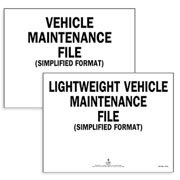 Vehicle Maintenance Labels