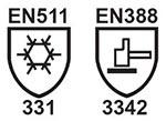 EN 511 and EN 388 icons