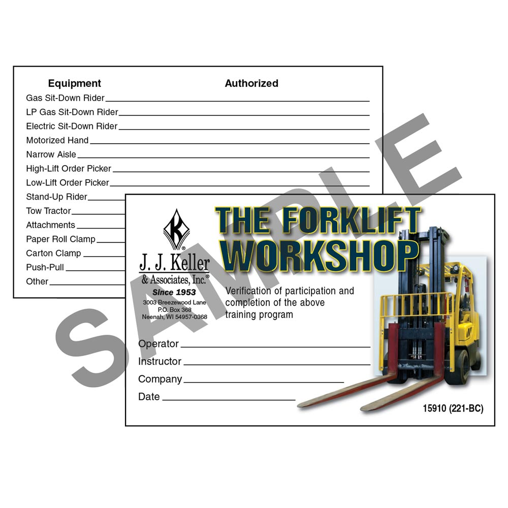 jj keller scissor lift training forklift certification card template best and various