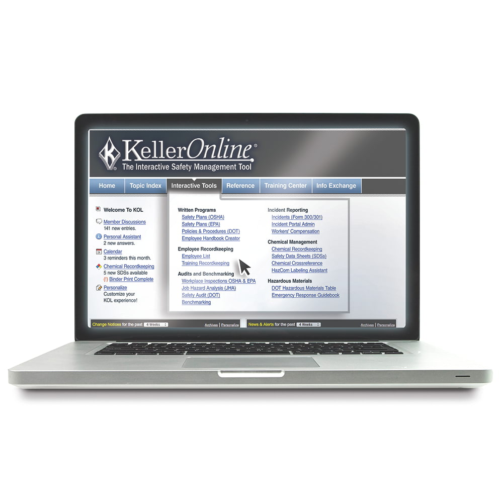 KellerOnline® Safety Management System & OSHA Compliance Tool (02798)