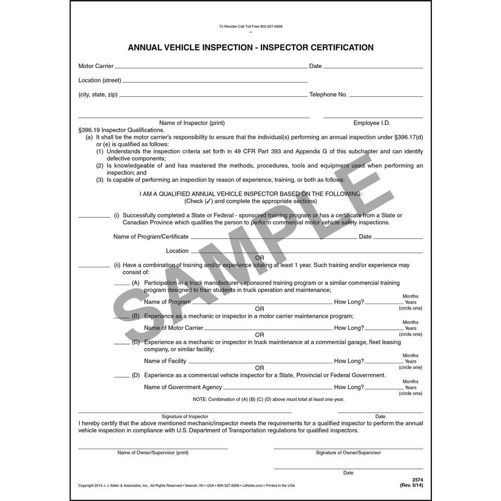 Annual vehicle inspection inspector certification form xflitez Images