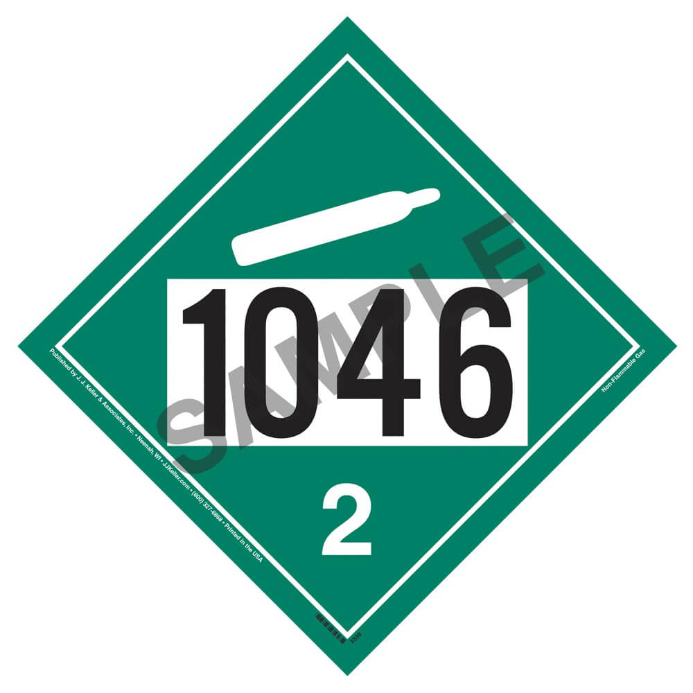 1046 placard division 2 2 non flammable gas