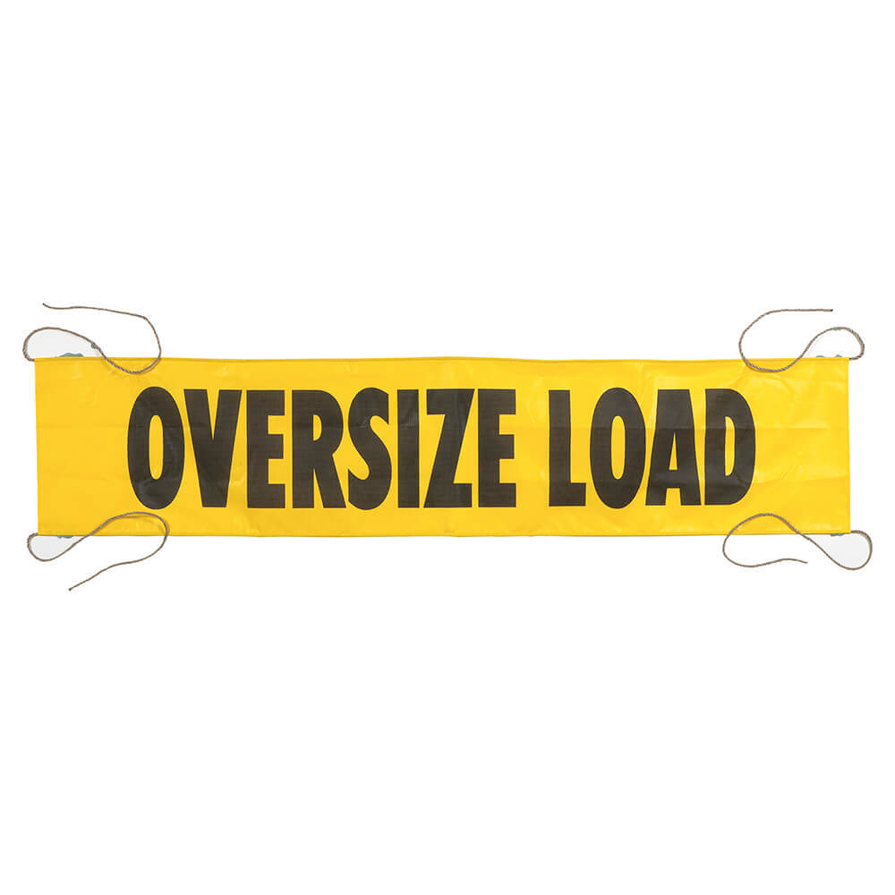 Wide Load Sign >> Mesh Oversize Load Banner W Ropes Sewn In