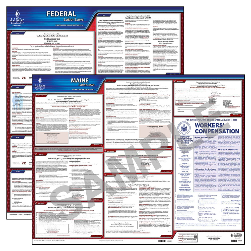 2019 Maine & Federal Labor Law Posters