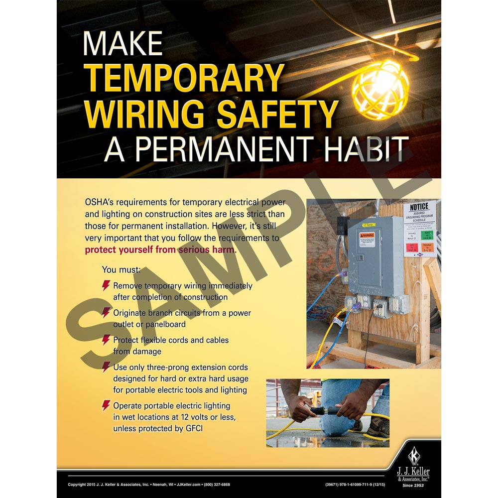 Wiring Safety Construction Poster How Gfcis Work Content From Electrical