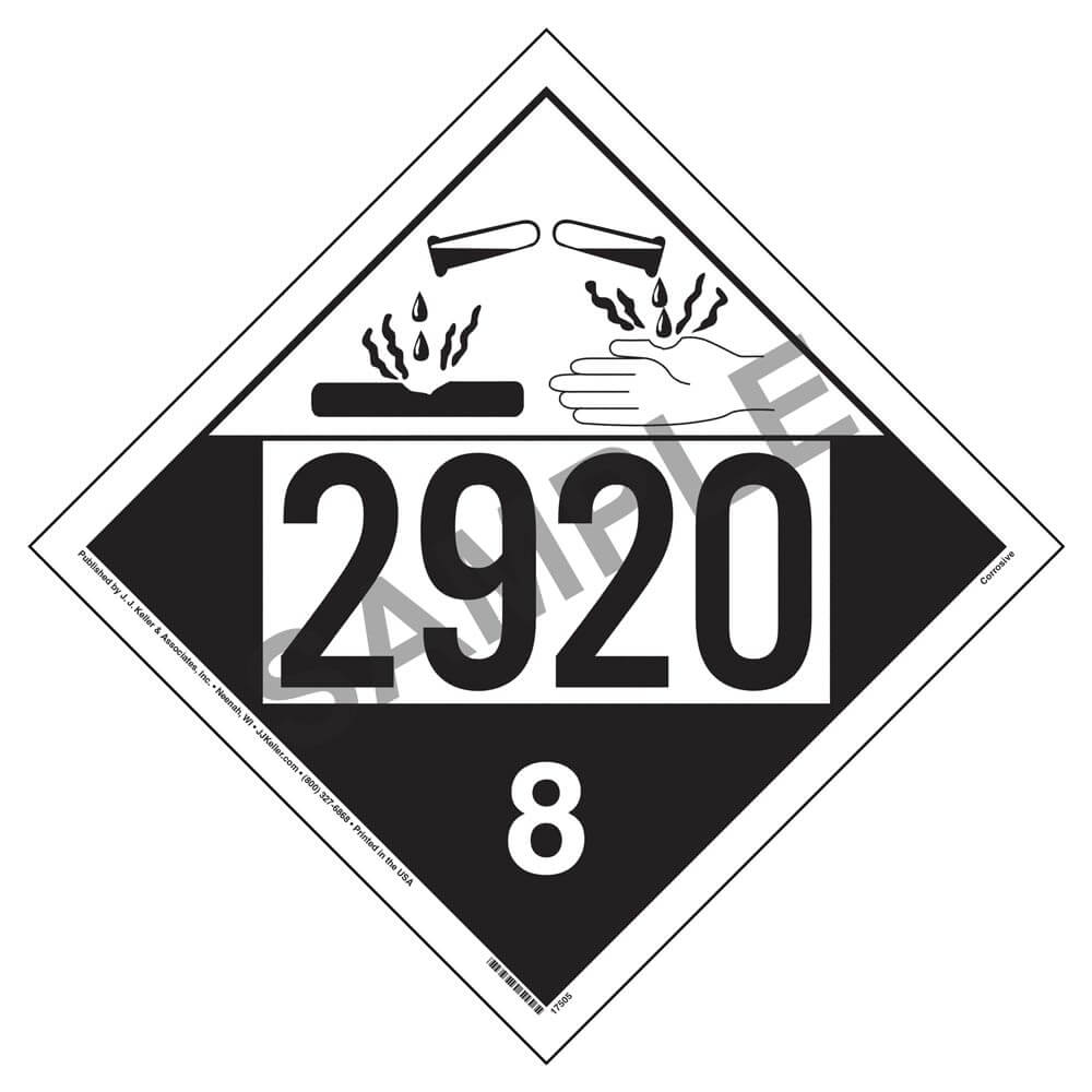2920 placard class 8 corrosive biocorpaavc Choice Image