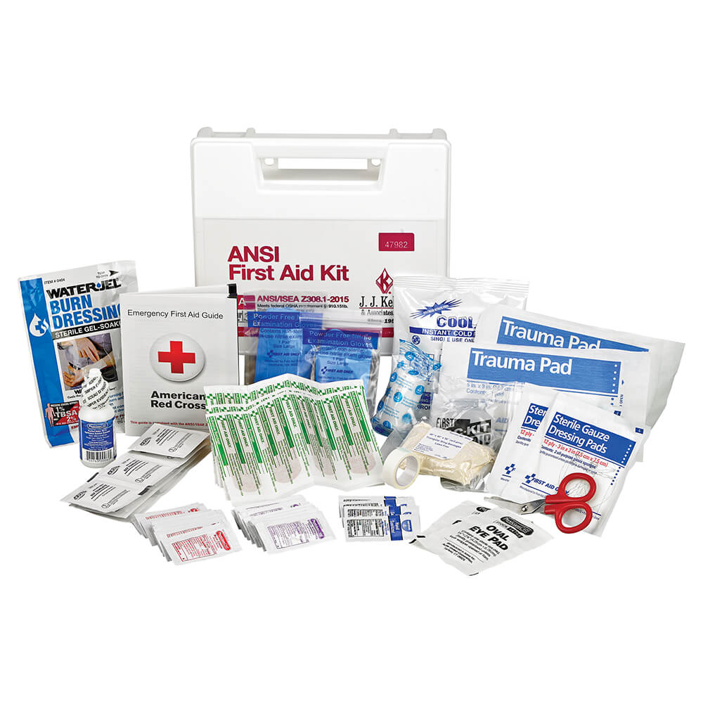 First Aid Kit: 25-Person Class A ANSI Z308 1-2015