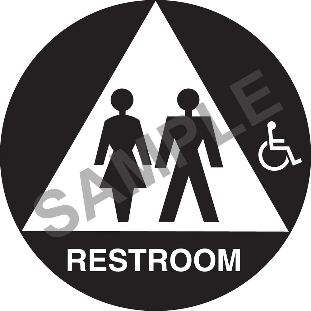 California Title 24 Gender Neutral Handicap Accessible Restroom Sign:  Restroom