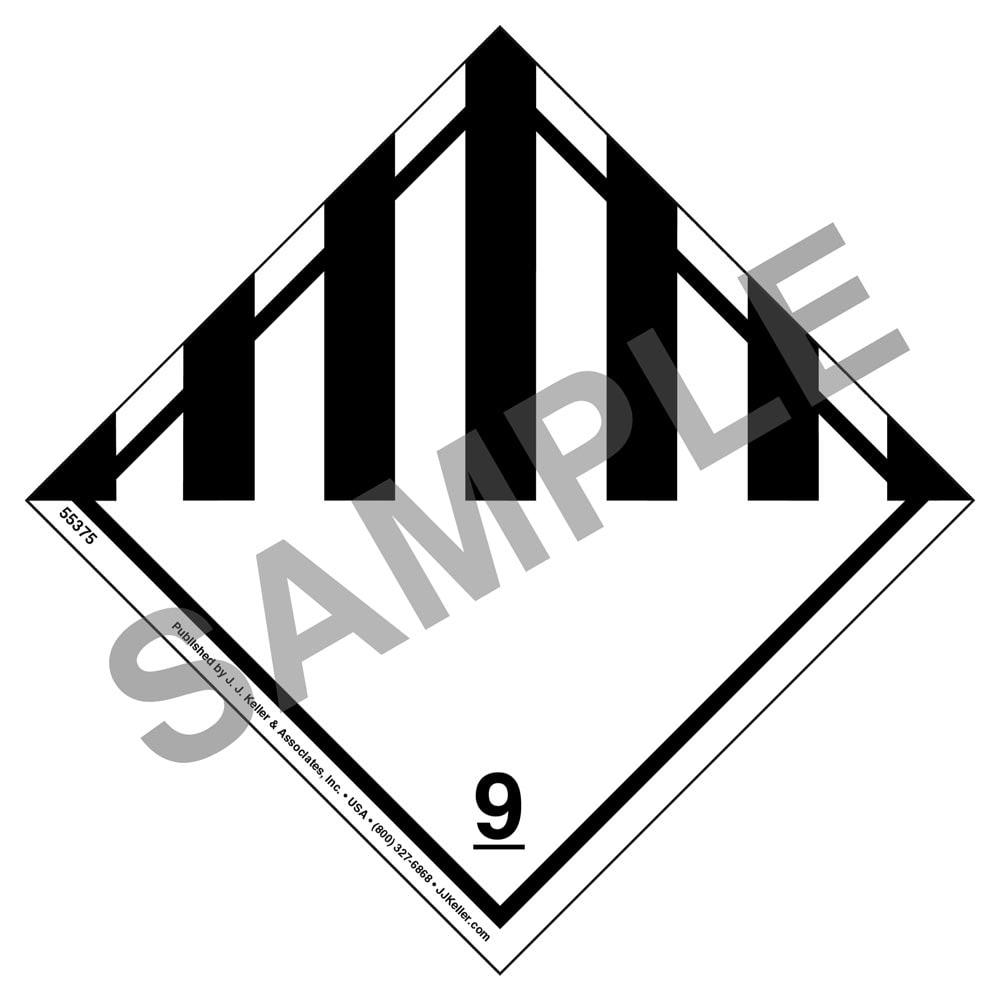 Class 9 Hazmat Label