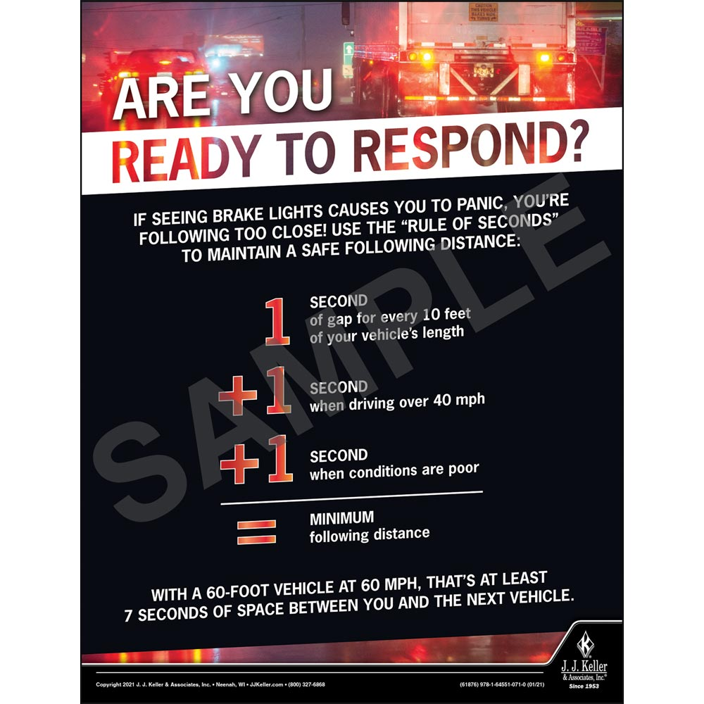 Are You Ready To Respond - Motor Carrier Safety Poster (017657)