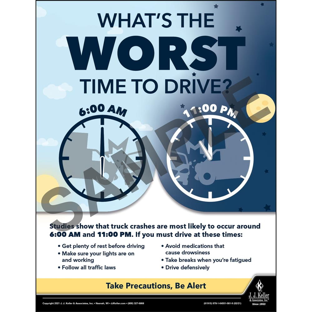 What's The Worst Time To Drive - Motor Carrier Safety Poster (017658)