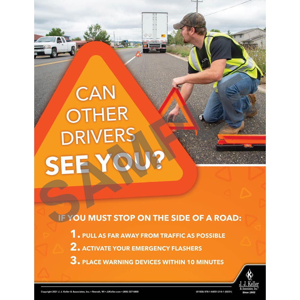 Can Other Drivers See You - Motor Carrier Safety Poster (017659)