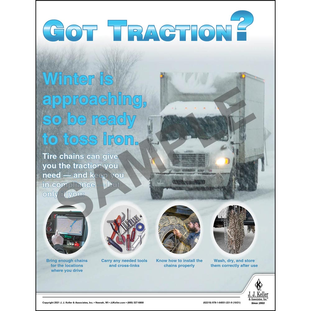 Got Traction - Winter is Approaching - Motor Carrier Safety Poster (017666)