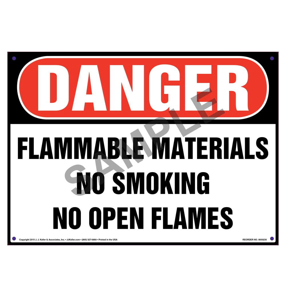OSHA Danger Diesel Combustible Flammable No SmokingSign or Label