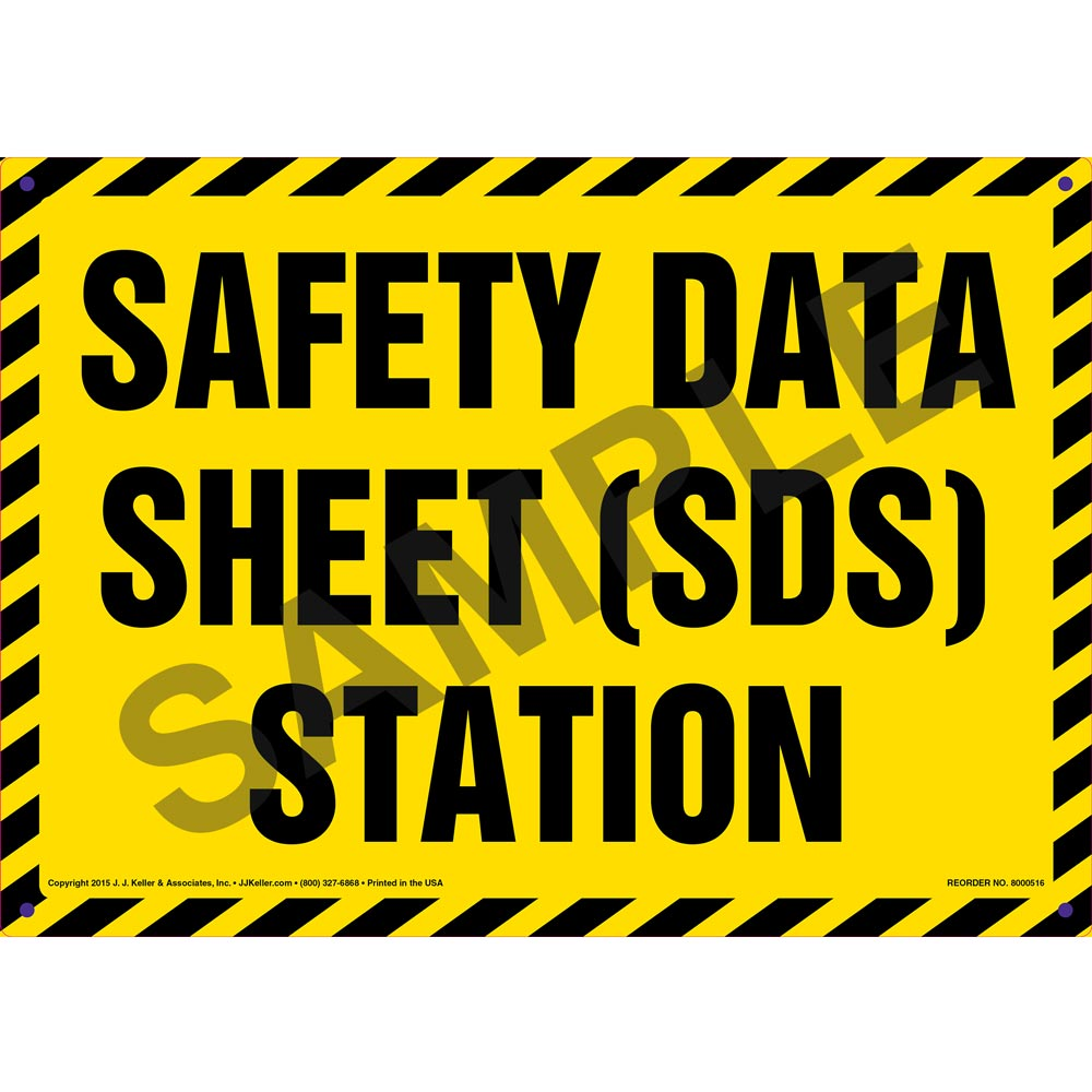safety data sheet sds station sign