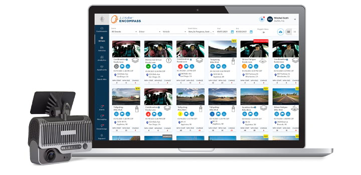 J. J. Keller® Dash Cam Pro and Encompass® Video Event Management Solution (014927)