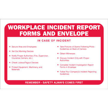 Workplace Incident Report Forms Packet