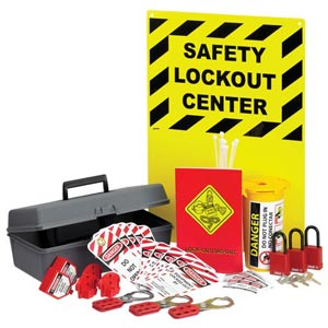 Lockout/Tagout Wall-Mount Station with Removable Kit