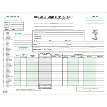 Dispatch Trip Report And Lease Forms