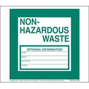 Non-Hazardous Waste Label - Paper, Continuous Format