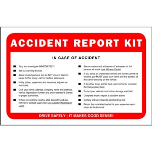 Accident Reporting Kits And Cameras