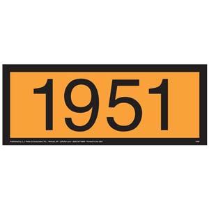 1951 Orange Panel