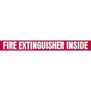 Fire Extinguisher Inside Truck Sign