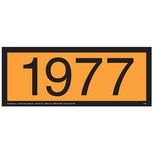 1977 Orange Panel