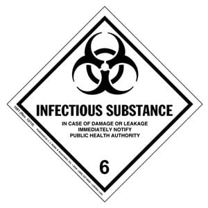Hazardous Materials Labels - Class 6, Division 6.2 -- Infectious Substance - Paper, Roll