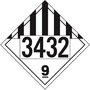 3432 Placard - Class 9 Miscellaneous