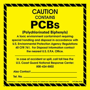 Caution - Contains PCBs Package Marking