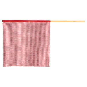 Warning Flag - Red Polyester Mesh