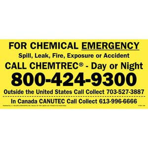 CHEMTREC® Chemical Emergency Sign - CANUTEC