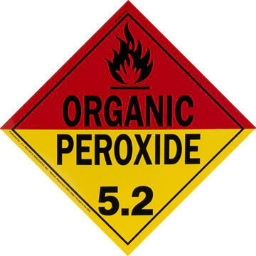 Division 5.2 Organic Peroxide Placard - Worded