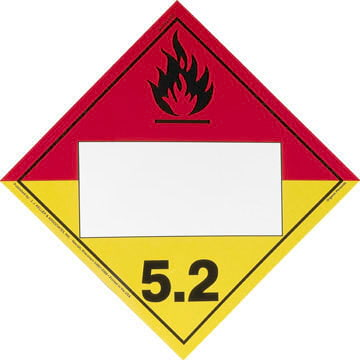 Division 5.2 Organic Peroxide Placard - Blank