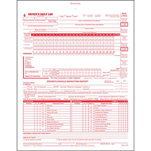 Canadian 2-In-1 Driver's Daily Log Book, 2-Ply, Carbonless - Stock