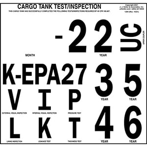 Cargo Tank Inspection Markings