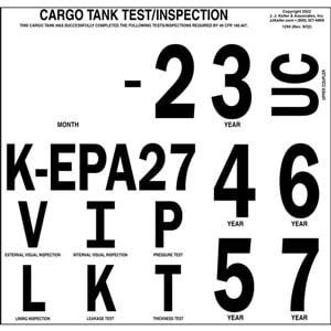 Cargo Tank Inspection Markings