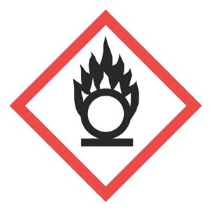 GHS Pictogram Labels - Flame Over Circle