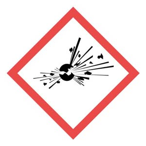 GHS Pictogram Labels - Exploding Bomb