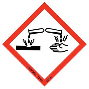GHS Pictogram Labels - Corrosion
