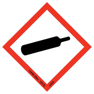 GHS Pictogram Labels - Gas Cylinder