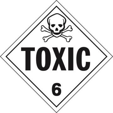 Division 6.1 Toxic Placard - Worded