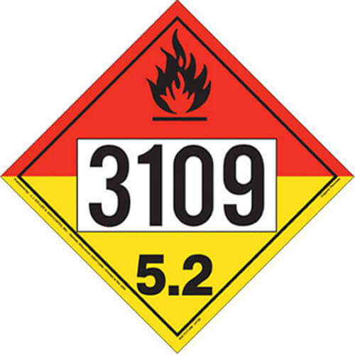 3109 Placard - Division 5.2 Organic Peroxide