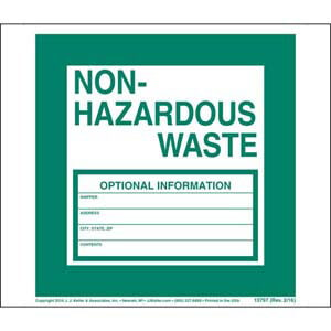 Non-Hazardous Waste Label - Vinyl, Continuous Format