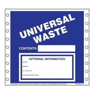 Universal Waste Labels - Vinyl
