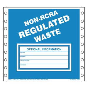 Non-RCRA Regulated Waste Labels - Paper