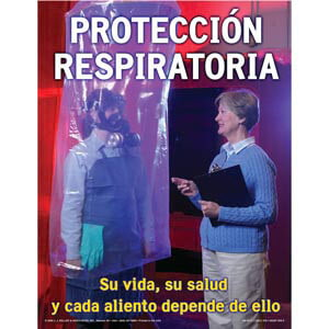 Respiratory Protection: Breathing Safely Training Program - Awareness Poster - Spanish