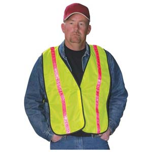 GloWear® Standard Mesh Safety Vest - High-Gloss Reflective Stripes