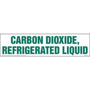 Carbon Dioxide, Refrigerated Liquid Sign